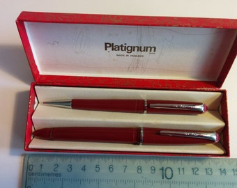 Platignum pen set. Pencil and Fountain pen.