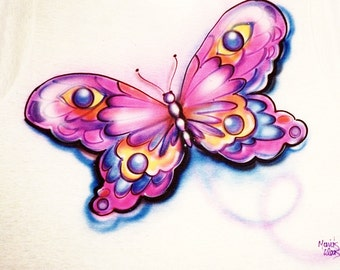 airbrush t shirt, Butterfly shirt, custom pillowcases, personalized bedding, personalized tshirts, Butterfly art, butterfly clothes