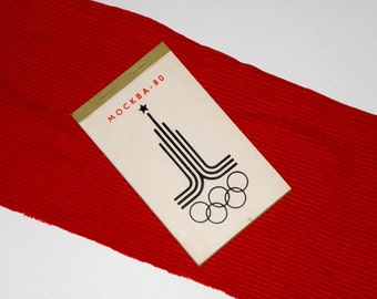 Free Shipping!!! Vintage NOS Notepad from the USSR made at period of 1980 Olympics games. USSR notepad. Olympic symbol. The Moscow-80. Gift.