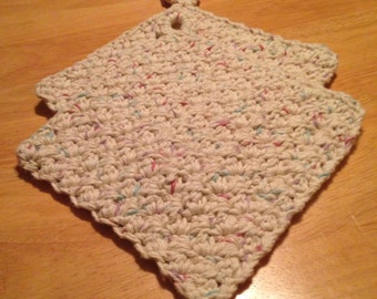 Crochet Potholder Set. Handmade 100% Cotton - Potpourri, Bridal Gift, Housewarming Gift