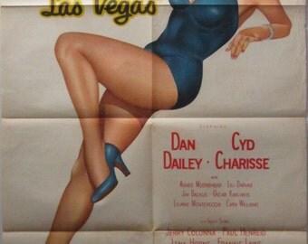 Meet Me In Las Vegas 1956 Original Australian One Sheet movie poster