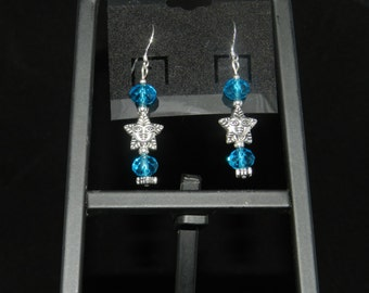Blue Crystal Sunshine Earrings