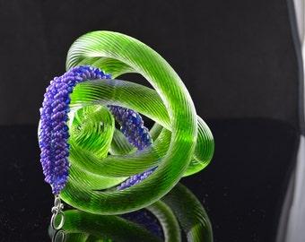 FT113 Purple Rope Bracelet, Size 8.5