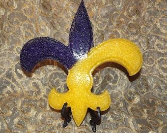 Purple/ Gold Fleur de Lis Air Freshener