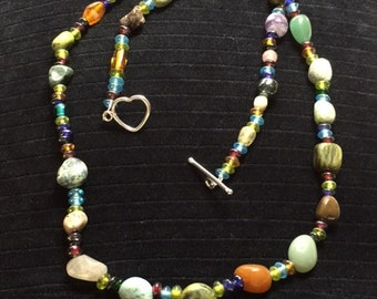 Gemstone and Beaded Necklace