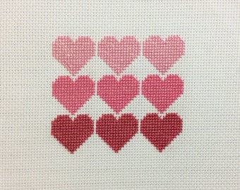 Hearts Cross Stich
