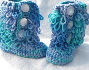 Loopy Boot booties
