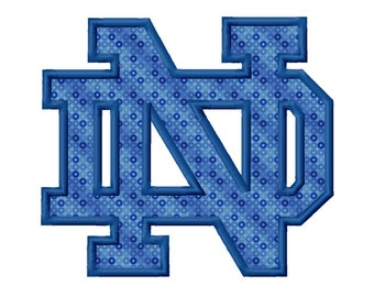 ND Applique Machine Embroidery Design 3x3 4x4 5x7 6x10 8x8 Notre Dame INSTANT DOWNLOAD