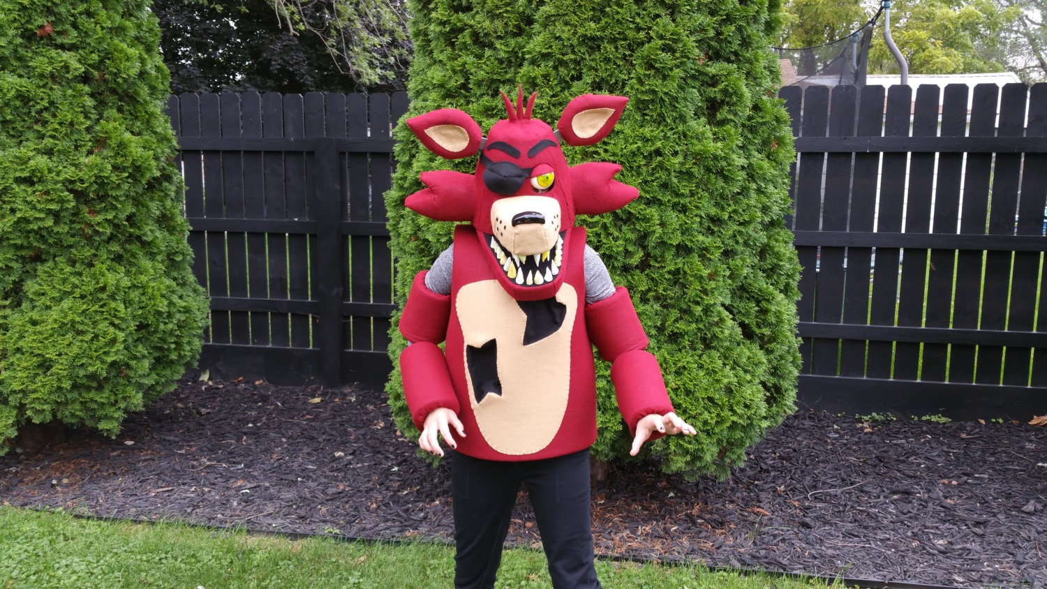 Foxy the pirate costume mask five nights at by brandysbootique