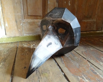 Plague Doctor mask, Crow mask, Make your own bird mask from cardboard , Instant download