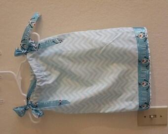 Frozen pillow case dress.