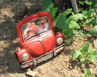 Volkswagen Beetle red photoframe