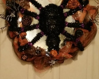 Light up holloween wreath