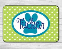 Custom Pet Mat - Pet Mat - Dog Food Mat - Pet Placemat - Personalized Pet Mat - Personalized Dog Mat - Cat Food Mat - Personalized Placemat
