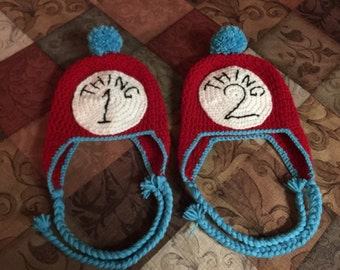 Thing 1 and Thing 2 hat's