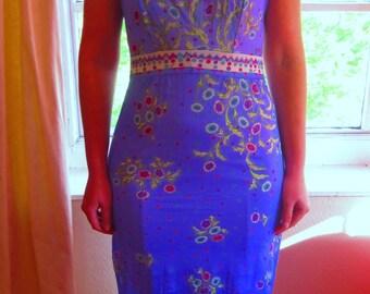 Vintage Colourful Floral Emilio Pucci Maxi Dress
