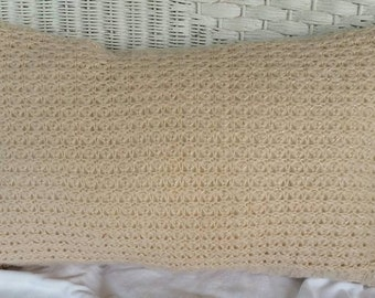Pale Peach Sweater Pillow