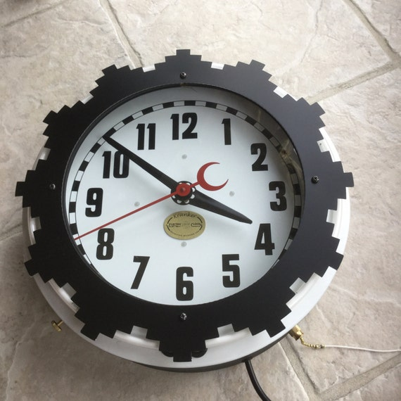 Krankerclocks Aztec Neon Two Color Clock 13 Inch X 5 Electric