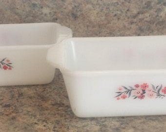 Set of 2 - Fire King Loaf Pans