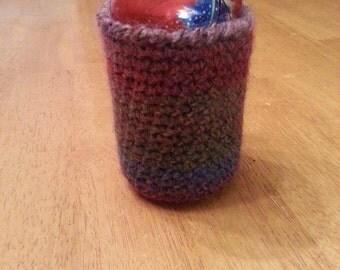 Rainbow crocheted cozie