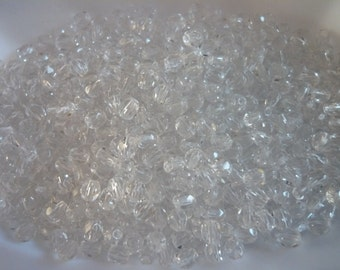 Fire polished Beads 4 mm Crystal x 100