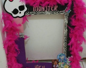 Monster High Birthday photo booth,Monster High hair bow,Monster High Birthday, Monster High Invites,Monster High shirt,Monster high tutu