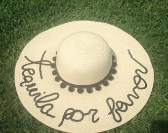 Tequila Por Favor Women's Floppy Sun Hat
