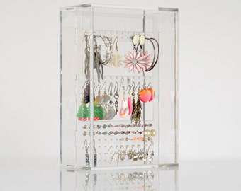 Earring Display / Storage Case | Premium acrylic | Made in the UK
