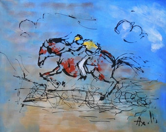 Painting Galloping horse