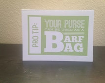 Birthday Barf Bag Card