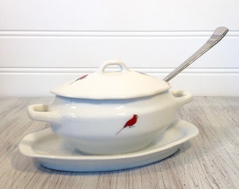 Hazel D. Ammerman Cardinal Sugar Bowl with lid