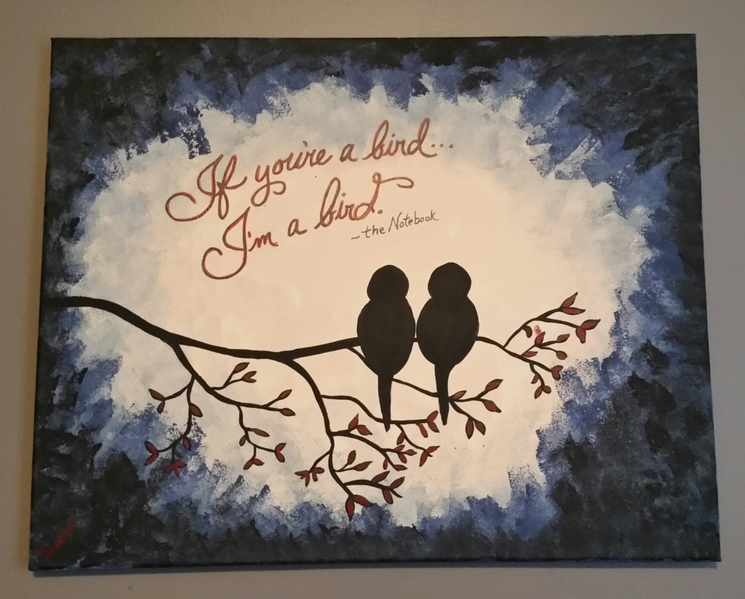 16x20 canvas painting if you 39 re a bird i 39 m a - App that puts santa in your living room ...