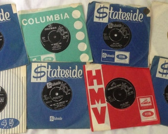 Bulk 45's for sale in batches of 20, all in reasonable condition with most from the 1960's