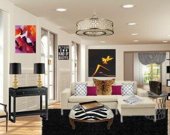 Services de Design d'intérieur : salle de séjour