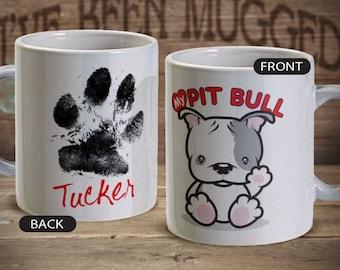 Love My Pitbull MG0017 Coffee Mug Pit bull personalized Birthday Pet Dog