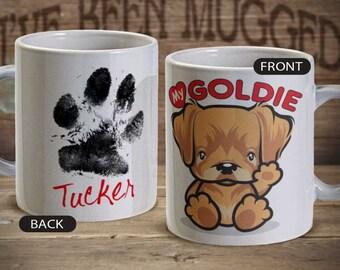 Love My Goldie MG0021 Coffee Mug Golden Retriever personalized Birthday Pet Dog