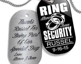 Ringer Bearer Gift LDT2001 Ring Security Large Dog Tag for Ring Bearer at Wedding - Ring Bearer Gift