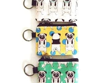 Key/coin purse - pug print