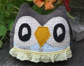 Jules the Owlet little owl pillow plushie