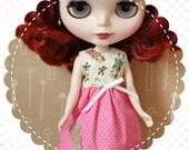 Be My Teddy Bear / One-of-a-Kind Doll Dress for Blythe