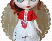 SALE Circus Amongst Us / One-of-a-Kind Doll Dress for Blythe