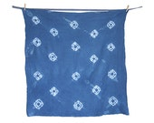 SAMPLE SALE: Shibori Dishcloth, Flour Sack -Hand Dyed Indigo