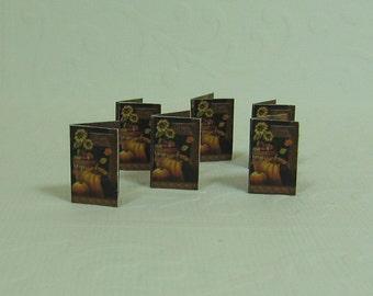 Dollhouse Miniature Set of Six Halloween Cards
