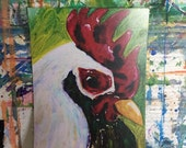 Custom acrylic chicken painting
