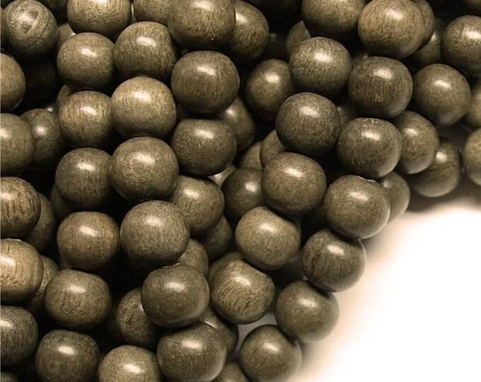 Wood Bead, Round 10mm, Graywood - Ten 16 Inch Strands (WDRD-10GR)