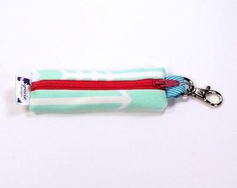 Lipstick Holder / Chapstick Holder / Lip Balm Holder / Earbud Case - Mint Arrow