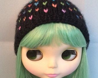 Black Rainbow Blythe Hat