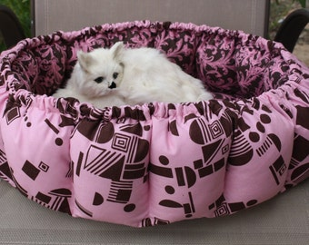 Cat Bed, Pocket Cat Bed, Pillow Cat Bed, Beds  For Cats, Fabric Cat Bed, Feline Cat Bed, Small Dog Bed