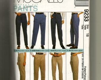 McCall's Misses' Pants, Trousers and Jeans Pattern 9233