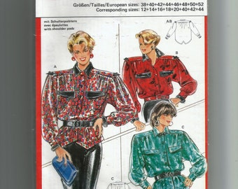burda Blouse  Pattern 6211